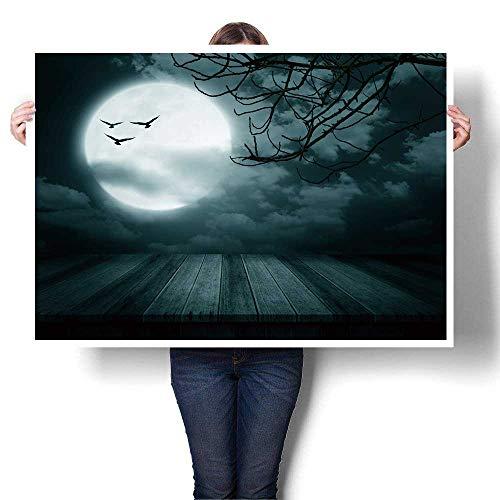 SCOCICI1588 1-Piece 100% Paintings Halloween Background Wooden Floor