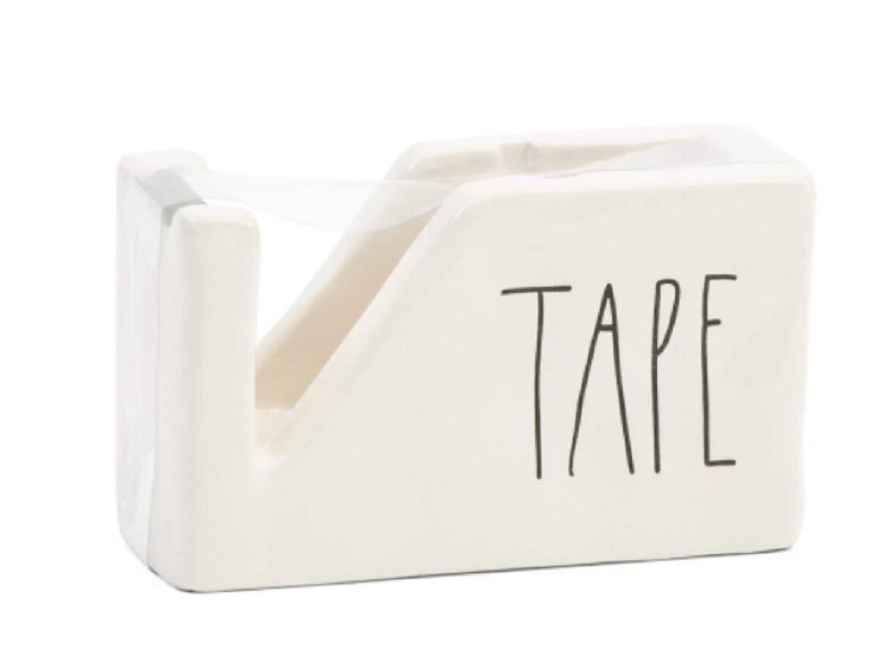 Rae Dunn Tape Dispenser - Large Letter LL by Rae Dunn