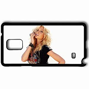 Personalized Samsung Note 4 Cell phone Case/Cover Skin Aly Michalka Black