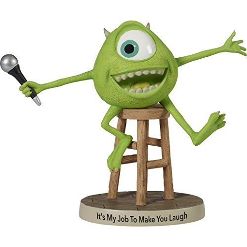 Precious Moments Disney Showcase, Pixar Monsters, Inc., Its My Job To Make You Laugh Mike Wazowski Resin Figurine, 172702
