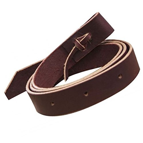 6' Foot Brown Latigo Leather Saddle Cinch Tie (Latigo Strap)