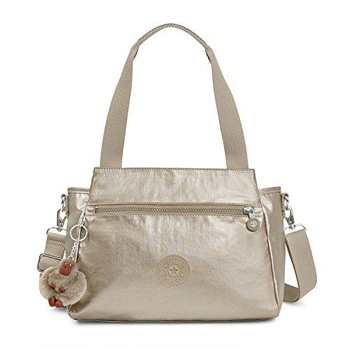 (Kipling Elysia Handbag, Metallic Pewter)