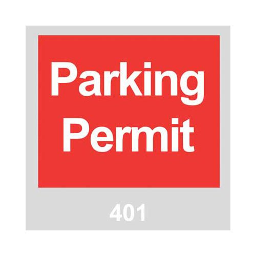 Brady 96237 Vinyl Windshield Decal, Parking Permit, 401-500 Sequence, Red, 3