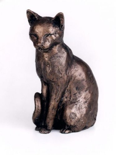 Willard cat cold cast bronze sculpture from Frith by Paul Jenkins by Farm and Garden