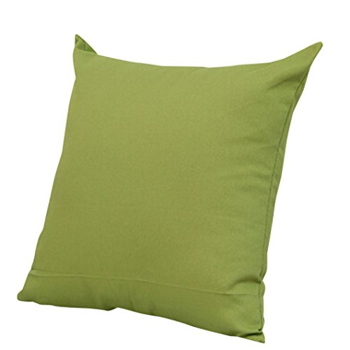 Price comparison product image MIARHB Clearance! Pillow Cover Soft Solid Color Throw Pillow Case Home Decorative Sofa Crushion Cover (Green,  18 × 18 Inch)