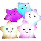 Blue Glowing Colorful Luminous LED Star Plush Pillow Stuffed Toys