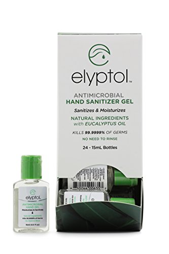 Elyptol Natural Antimicrobial Hand Sanitizer Spray | Dual Action Moisturizer and Sanitizer Formulated with Eucalyptus Oil & Kills 99.9999% of Germs | 15mL (0.5oz) Per Bottle, (Pack of 24)