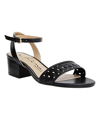 Nina Originals Womens Visa Open Toe Casual Ankle Strap Sandals Black gL4FEMa