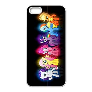Colorful Cartoon Horse White iPhone 5S case