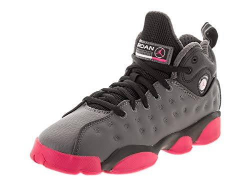 Nike Jordan Hoops - Jordan Nike Kids Jumpman Team II (GS) Dark Grey/Vivid Pink/Blk Basketball Shoe 7 Kids US