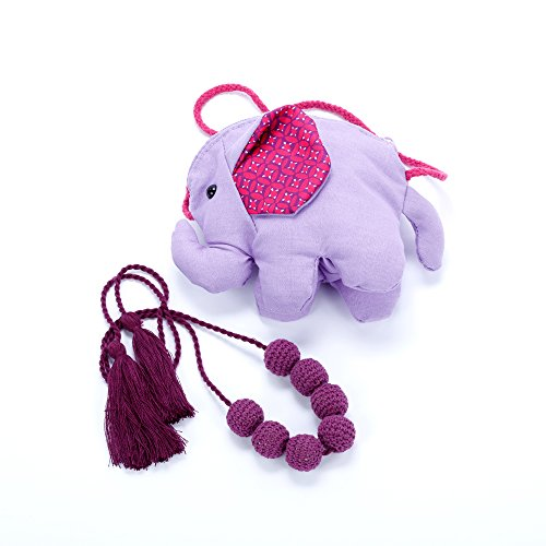Peppercorn Kids Elephant Purse and Crochet Bead Necklace Set