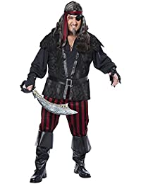 Men's Plus-Size Ruthless Rogue Pirate Buccaneer