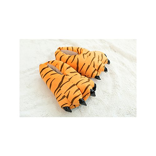 OCHENTA Klauenschuhe Tierhausschuhe Cosplay Cartoon Animation Slippers Paw Tiger