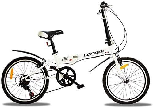 YLJYJ Adultos Bicicletas Plegables, Bicicletas Plegables Velocidad Variable Estudiante Rueda pequeña Bicicleta de Regalo Bicicleta Plegable-Negro 20 Pulgadas: Amazon.es: Deportes y aire libre