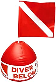 Scuba Diving Inflatable Signal Floater with Dive Flag