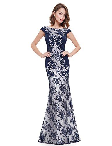 Ever-Pretty HE08338VE08 - Vestido para mujer Azul marino