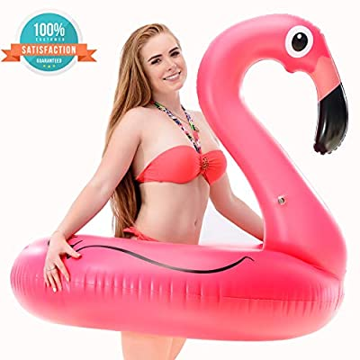 Inflatable Flamingo Pool Float Pool Party Toys Giant Premium Pool Floats for Adults and Kids Best Outdoor Vacation Beach Loungers Lake Ride-on River Raft | Educational Toys