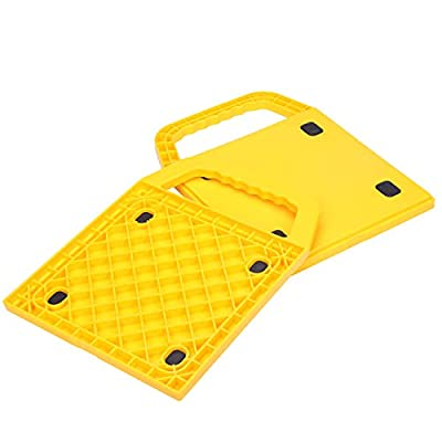 Homeon Wheels Stabilizing Jack Pads for RV, Camper Leveling Blocks Help Prevent Jacks from Sinking (2 pieces-11.4