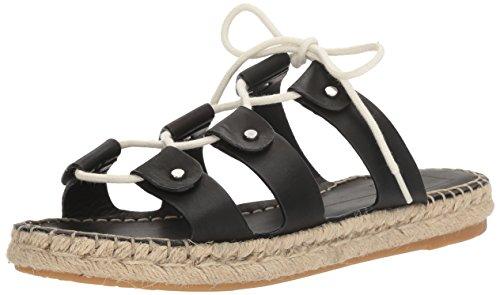 Women Black Leather Vana Dolce Sandal Vita Espadrille Oq4Tq5nBw