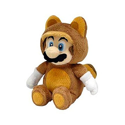 [Tanooki Mario Plush 8'' - Super Mario Bros Racoon Costume Plushie Toy 8 Inch Tall] (Dry Bowser Costume)