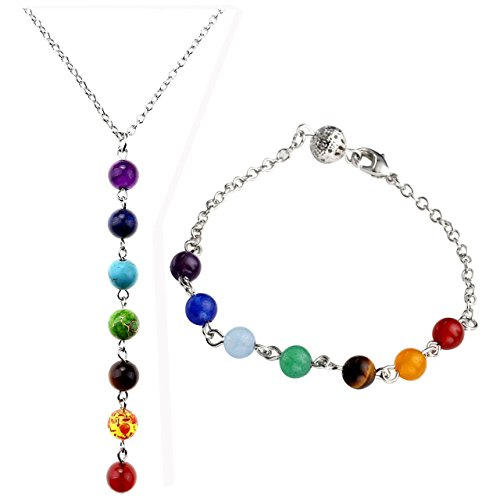 Chakras Gemstones Balancing Necklace Bracelet