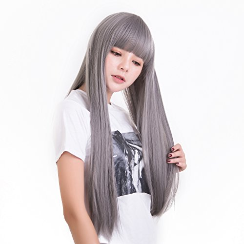 Anxin Long Gray women Bangs product image