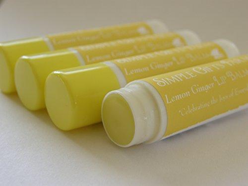 Lemon Ginger Lip Balm  By Simple Gifts Farm
