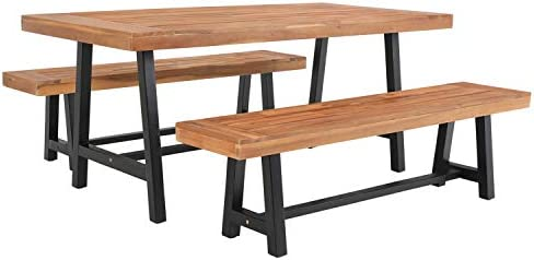 Sophia William Outdoor Patio 3 Pieces Wooden Dining