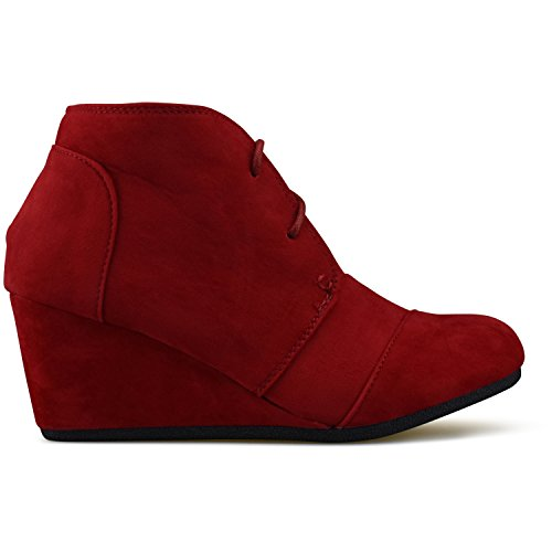 Low Fashion Heel Booties Casual Red Shoes Premier Standard Wedge Outdoor paAvvw