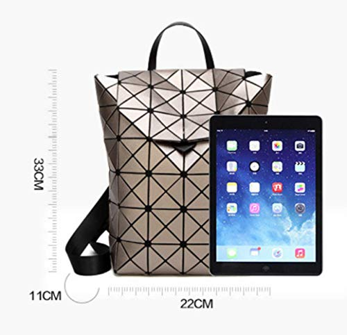 Bag Folding Travel Cute Girls Black Geometry Bag Backpack Stitching TxqItXwgBP
