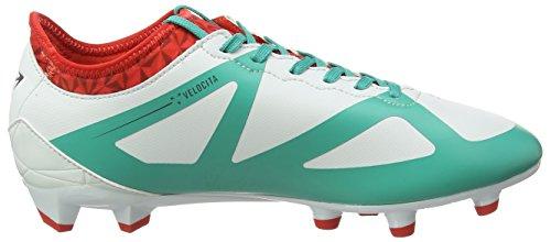 Umbro Velocita Iii Premier Hg, Botas de Fútbol para Hombre Multicolor (Dawn Blue/Carbon/Fiery Red/Spectra Green Epe)