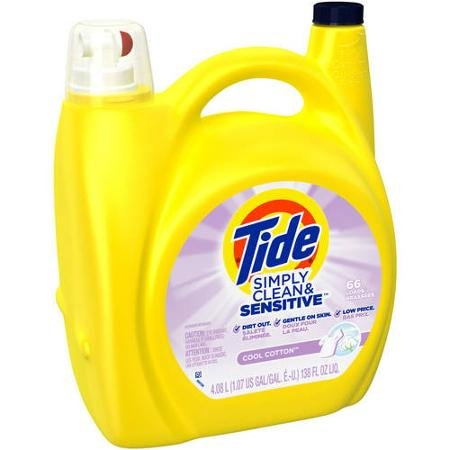 Tide Simply Clean & Sensitive Cool Cotton Laundry Detergent, 138 Fl Oz
