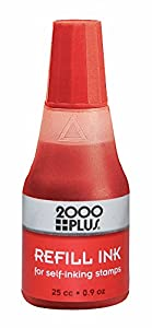 2000Plus Ink Refill For Self Inking Stamps And Stamp Pads Red 09oz
