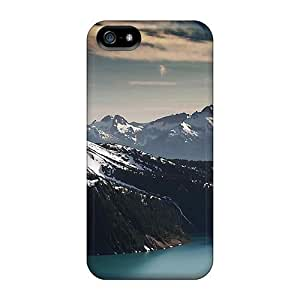 Defender Case For Iphone 5/5s, Nature Mountains River And The Snowy Peaks Pattern
