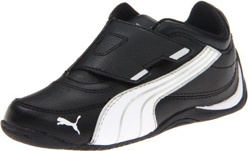 PUMA Drift Cat 4 Alt Closure Sneaker (Toddler/Little Kid/Big Kid),Black/White/Silver Metallic,7 M US Toddler ()