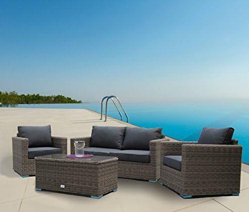 Luxurygarden® salón sofá 2 plazas de Rattan Modelo Andresa para ...