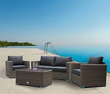 Luxurygarden® salón sofá 2 plazas de Rattan Modelo Andresa ...