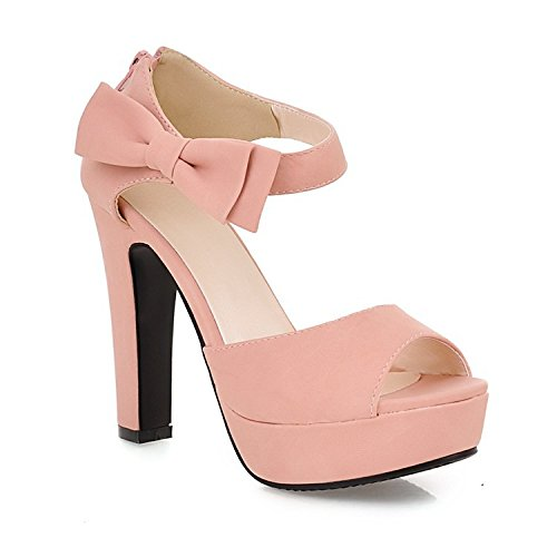 sandalias de mujer de Pink pescado botas impermeable tacón con plataforma con grueso Boca de alto UIqZB1Bx