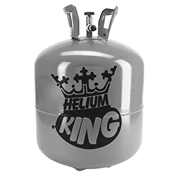 Helium King Large Gas Bottle / Cylinder - Fills 50 9inch Balloons (1) HELIUM-NB-LRG-1-B
