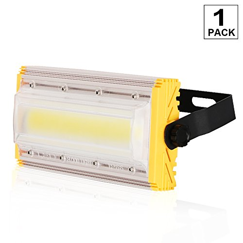 50W New Craft LED Flood Lights, Super Bright Outdoor Work Light, Outdoor Floodlight for Garage, Garden, Lawn and Yard, IP66 Waterproof,4000Lm,Daylight,1 Pack, 6500K