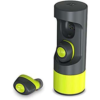 Motorola VerveOnes+ Music Edition Completely Wireless, Waterproof Stereo Smart Earbuds - Lime