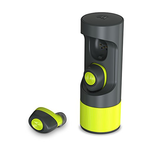 Motorola SH010AL VerveOnes+ Music Edition Completely Wireless, Waterproof Stereo Smart Earbuds - Lime