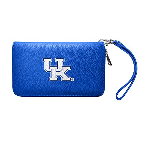 NCAA Kentucky Wildcats Women's Zip Organizer Pebble Wallet, Royal, 8