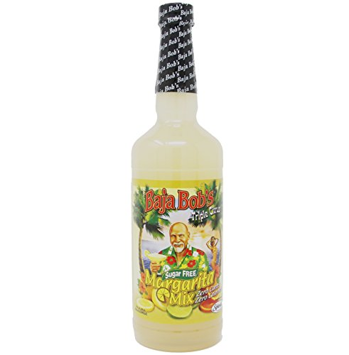 Baja Bob's Triple Citrus Margarita Mix, 32 Ounce, Sugar-Free Cocktail Mixer