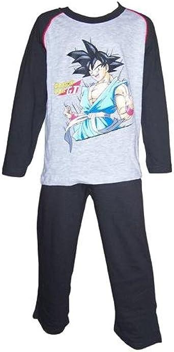 Dragon Ball - Pijama Dos Piezas - para niño Negro Negro 3 ...