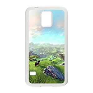 Samsung Galaxy S5 Cell Phone Case White Legend Of Zelda Field Green LSO7987664
