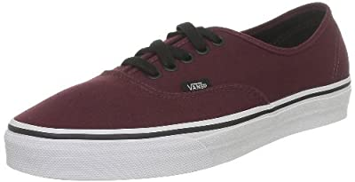 Vans Women Authentic Trainers Burgundy (9.5 B(M) US Women/8 D(M) US Men, Burgundy)