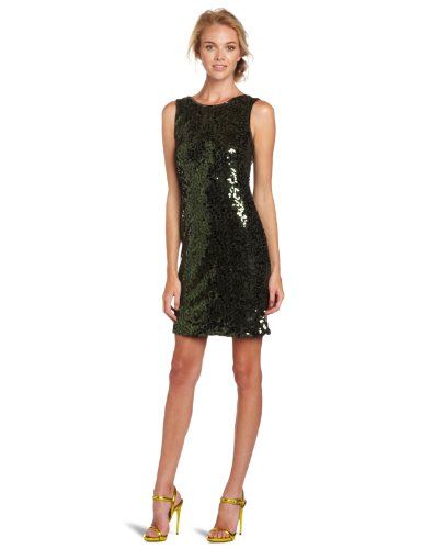 Jessica Simpson Women's Sequin Tank Dress, Scarab, 10