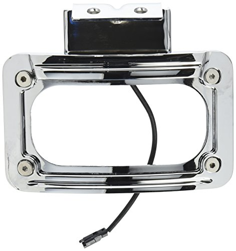Kuryakyn 5699 LED Curved License Plate Frame with Mount (Curved Plate License Frame Kuryakyn)