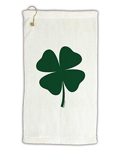 "TooLoud Lucky Four Leaf Clover St Patricks Day Micro Terry Gromet Golf Towel 16"" x 25"""